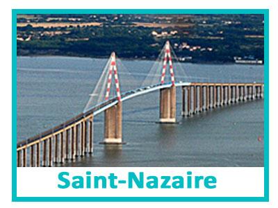 Bouton d'accès à la laverie de st-Nazaire représentant le pont